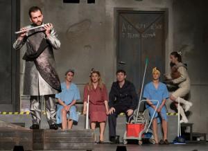 Jelenet A varázsfuvola című Mozart-opera Rusznyák Gábor rendezte előadásából. - © Fotó: Molnár Péter