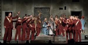 Jelenet A varázsfuvola című Mozart-opera Rusznyák Gábor rendezte előadásából. Fotó: Molnár Péter