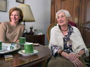 Maléter Pálné és Szamosi Zsófia az interjúzás során