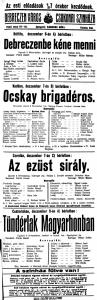 Műsorplakát 1920-ból