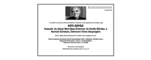 Kóti Árpád temetése